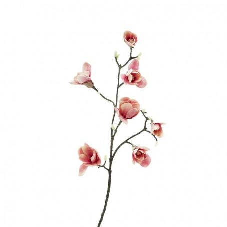 Ramo di 5 Magnolie Rosa D.15xH.95 cm