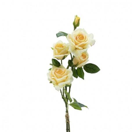 Fascio di Rose e Boccioli Arancione H.75 cm