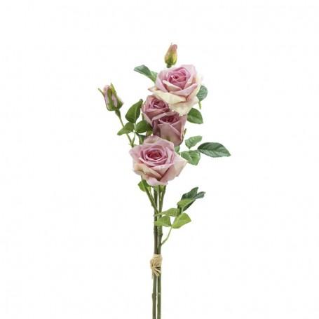 Fascio di Rose e Boccioli Rosa H.75 cm