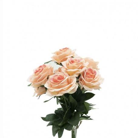 Bouquet di Rose Pesca H.45 cm