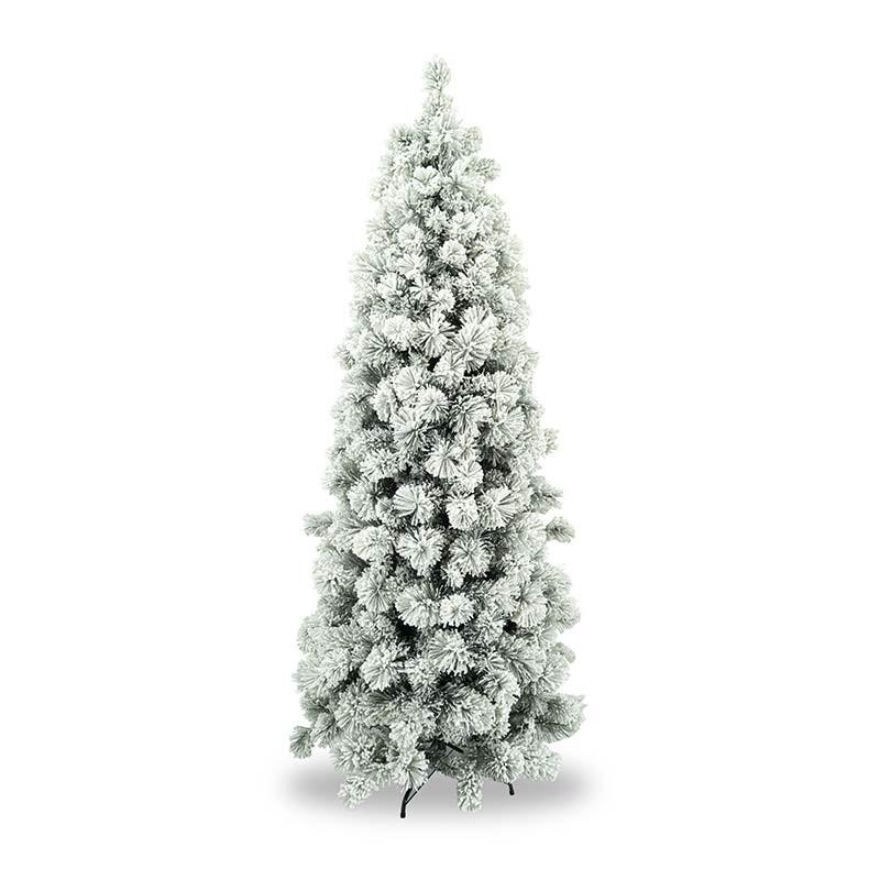 Albero Di Natale Slim 240.Albero Innevato Ad Ombrello In Pvc H 180 240 Cm Blanco Slim