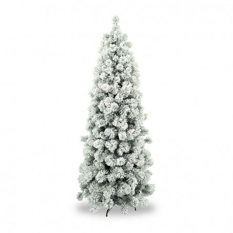 Albero Di Natale H 240.Albero Innevato Ad Ombrello In Pvc H 180 240 Cm Blanco Slim