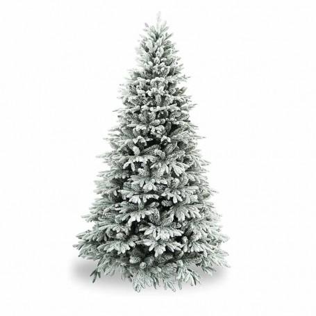 Albero di Natale Verde Innevato in Pe+Pvc H.150/270 cm Apertura ad Ombrello - Canada