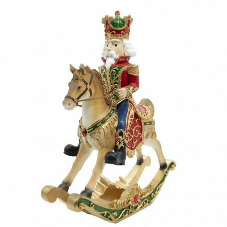 Schiaccianoci in Resina su Cavallo a Dondolo