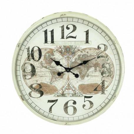 Orologio Color Panna con Planisferi D.80 cm