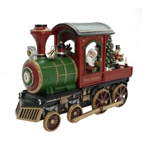 Trenino con Babbo Natale alla Guida in Movimento H.26 cm