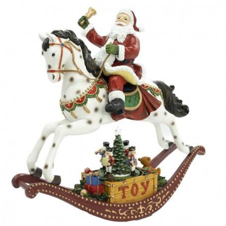 Babbo Natale a Cavallo in Movimento H.31 cm