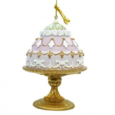 Tortina con Alzatina in Resina H.13 cm 3 Colori