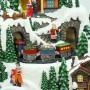Villaggio Natalizio con Led, Treno e Pattinatori 38x29x31 cm