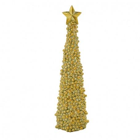 Albero in Resina Oro con Puntale a Stella 33 cm