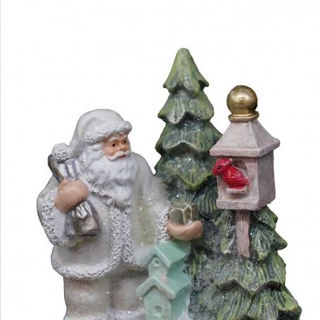Babbo Natale Musicale.Carillon Musicale Con Babbo Natale H 15 Cm 2 Modelli