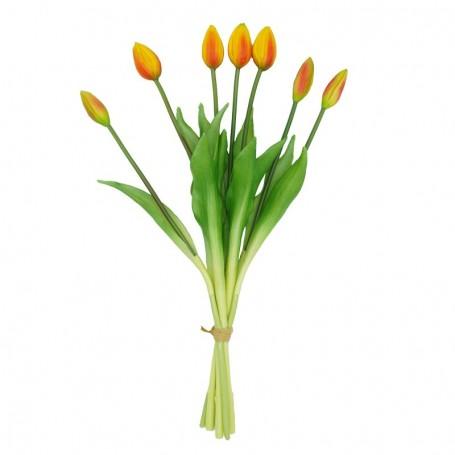 Fascio di 7 Tulipani Arancione 44 cm
