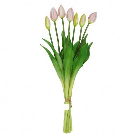Fascio di 7 Tulipani Rosa 44 cm