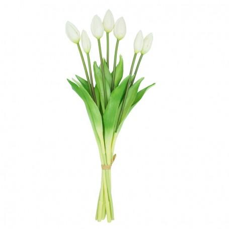 Fascio di 7 Tulipani Bianchi 44 cm