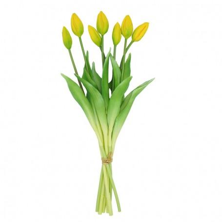 Fascio di 7 Tulipani Gialli 44 cm