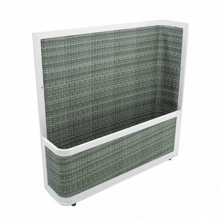 Fioriera in Alluminio Grigio 120x30x122 cm
