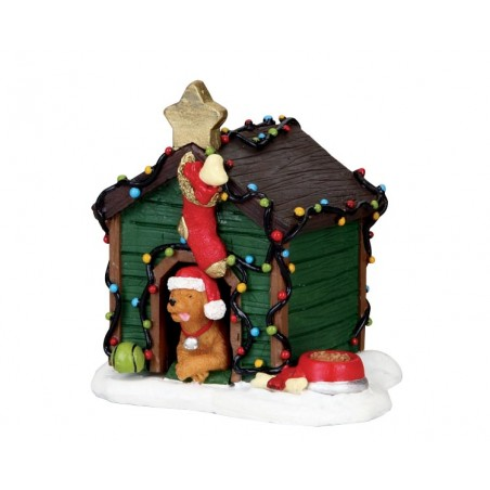Decorated light doghouse - 02808 lemax