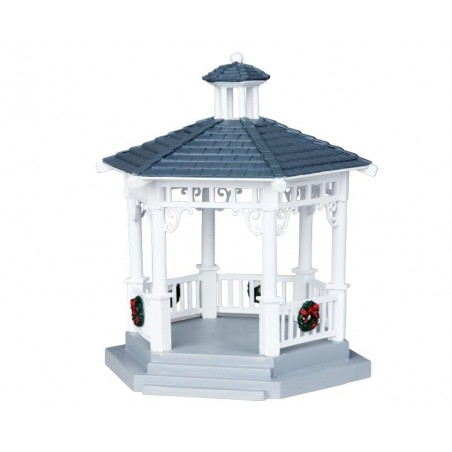 Plastic Gazebo  With Decorations - 04160 lemax