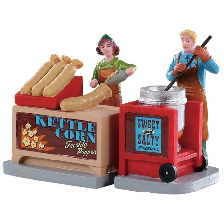 Kettle Corn Stand set Of 2 - 92746 lemax
