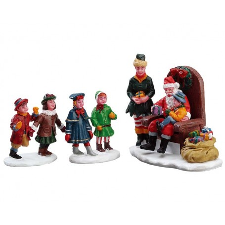 Visiting Santa Set of 3 - 62276 lemax