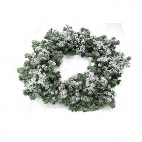 Ghirlanda Verde Innevata D.50 cm