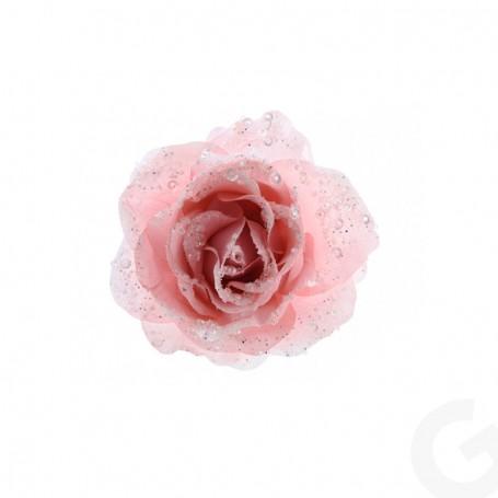Rosa con Clip Glitterata