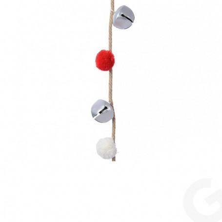 Ghirlanda con Campanellini e Ponpon 150 cm