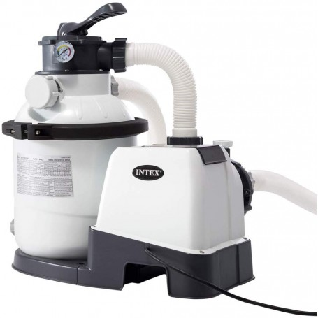 Pompa a sabbia Intex  - Flusso Acqua: 4.500 l/h, Flusso Sistema: 4.000 l/h