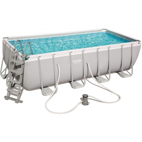 Piscina Power Steel 488x244x122 cm con Filtro a Cartuccia - Bestway 56670