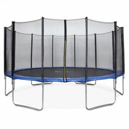 Trampolino elastico da giardino con rete di protezione D.365 cm
